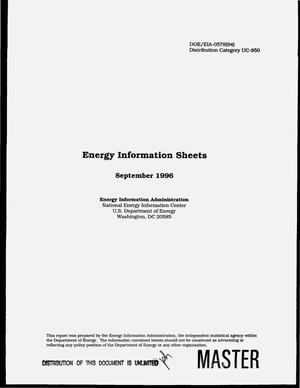 Primary view of object titled 'Energy information sheets, September 1996'.