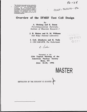 Primary view of object titled 'Overview of the IFMIF test cell design'.