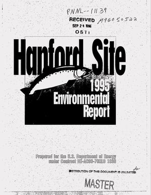 Primary view of object titled 'Hanford Site environmental report for calendar year 1995'.