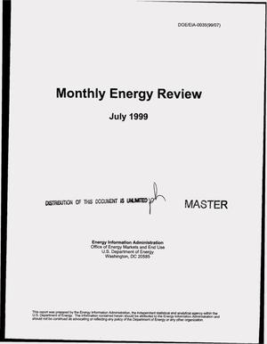 Primary view of object titled 'Monthly energy review, July 1999'.