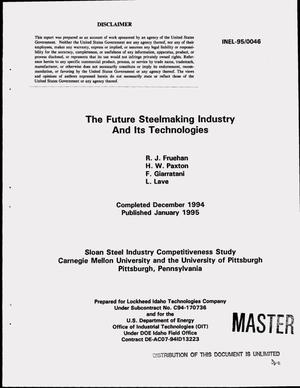 Primary view of object titled 'The future steelmaking industry and its technologies'.