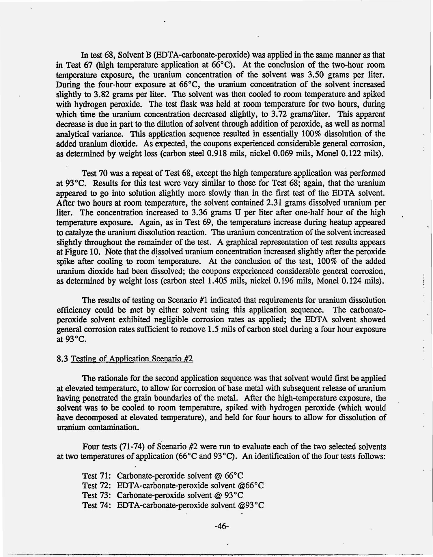Chelant screening and refinement tests - Phase I, Task 2. Topical progress report, December 1993--June 1994                                                                                                      [Sequence #]: 54 of 236