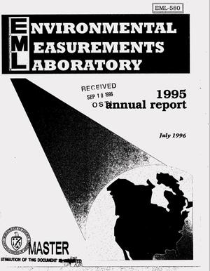 Primary view of object titled 'Environmental Measurements Laboratory, annual report 1995'.