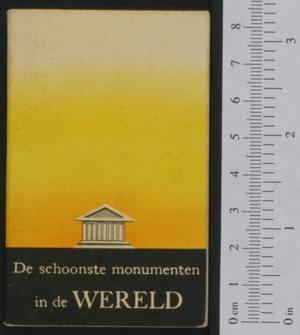 Primary view of object titled 'De schoonste monumenten in de wereld'.