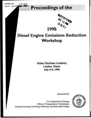 Primary view of object titled 'Proceedings of the 1998 diesel engine emissions reduction workshop [DEER]'.
