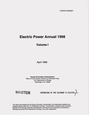 Primary view of object titled 'Electric power annual 1998. Volume 1'.
