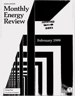 Primary view of object titled 'Monthly energy review, February 1999'.