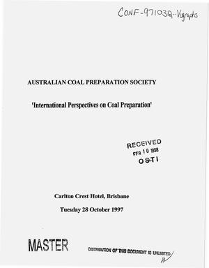 Primary view of object titled 'International perspectives on coal preparation'.