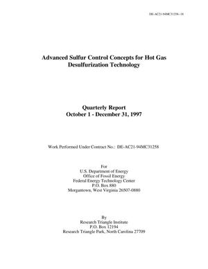 Primary view of object titled 'Advanced sulfur control concepts for hot gas desulfurization technology'.