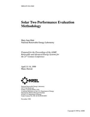 Primary view of object titled 'Solar Two Performance Evaluation Methodology'.