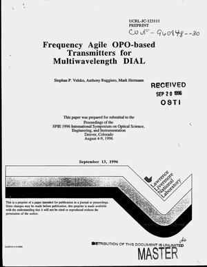 Primary view of object titled 'Frequency agile OPO-based transmitters for multiwavelength DIAL'.