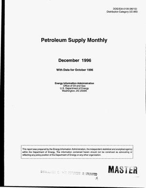 Primary view of object titled 'Petroleum supply monthly with data from October 1996'.