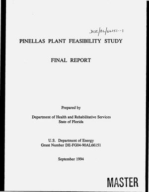 Primary view of object titled 'Pinellas Plant feasibility study. Final report'.