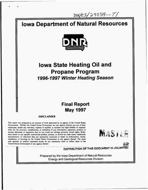Primary view of object titled 'Iowa state heating oil and propane program: 1996--1997 winter heating season. Final report'.