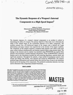 Primary view of object titled 'The dynamic response of a weapon`s internal components to a high speed impact'.