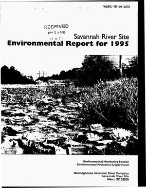 Primary view of object titled 'Savannah River Site environmental report for 1995'.