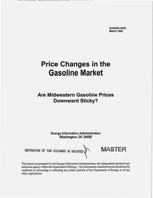 Primary view of object titled 'Price changes in the gasoline market: Are Midwestern gasoline prices downward sticky?'.