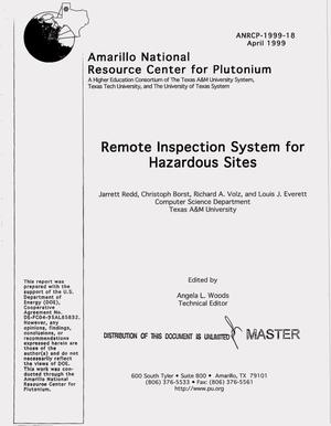 Primary view of object titled 'Remote inspection system for hazardous sites'.