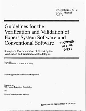 Primary view of object titled 'Guidelines for the verification and validation of expert system software and conventional software: Survey and documentation of expert system verification and validation methodologies. Volume 3'.