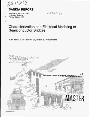 Primary view of object titled 'Characterization and electrical modeling of semiconductors bridges'.