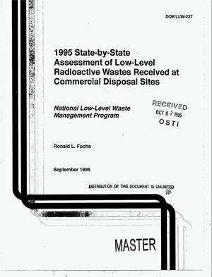 Primary view of object titled '1995 state-by-state assessment of low-level radioactive wastes received at commercial disposal sites'.