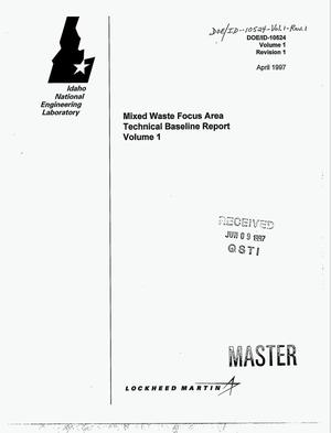 Primary view of object titled 'Mixed waste focus area technical baseline report. Volume 1'.