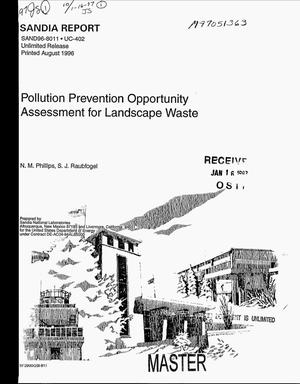Primary view of object titled 'Pollution Prevention Opportunity Assessment for Landscape Waste'.