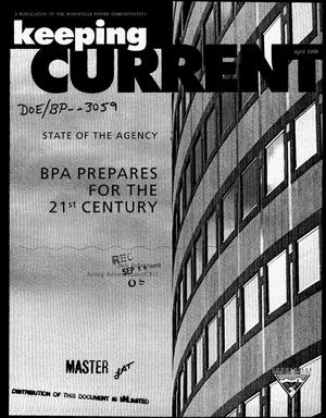 Primary view of object titled 'BPA Prepares for the 21st Century.'.