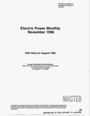Primary view of object titled 'Electric Power monthly, November 1996'.