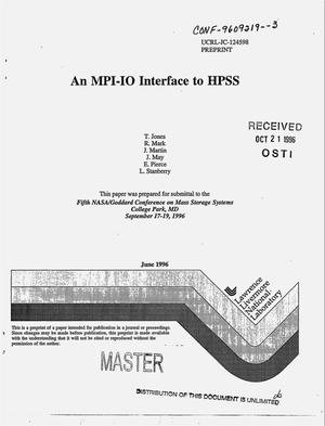 Primary view of object titled 'An MPI-IO interface to HPSS'.