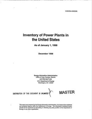 Primary view of object titled 'Inventory of power plants in the United States as of January 1, 1998'.