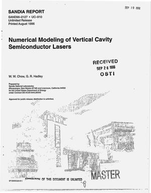 Primary view of object titled 'Numerical modeling of vertical cavity semiconductor lasers'.