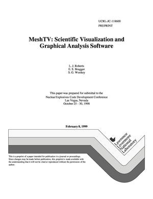 Primary view of object titled 'MeshTV: scientific visualization and graphical analysis software'.