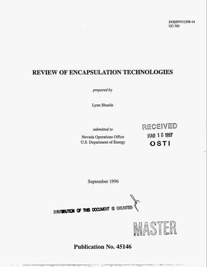 Primary view of object titled 'Review of encapsulation technologies'.