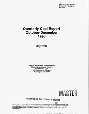 Primary view of object titled 'Quarterly coal report, October--December 1996'.