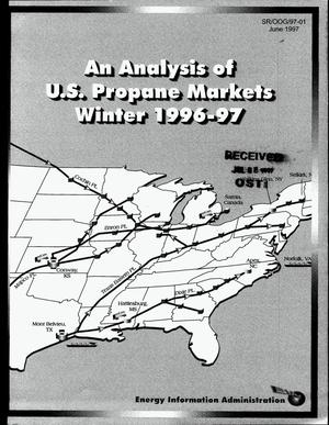 Primary view of object titled 'An analysis of US propane markets, winter 1996-1997'.