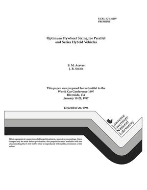 Primary view of object titled 'Optimum flywheel sizing for parallel and series hybrid vehicles'.