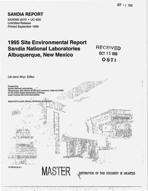 Primary view of object titled '1995 Site environmental report Sandia National Laboratories, Albuquerque, New Mexico'.