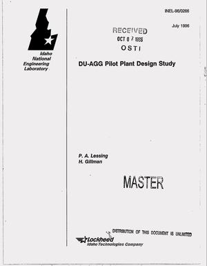 Primary view of object titled 'DU-AGG pilot plant design study'.