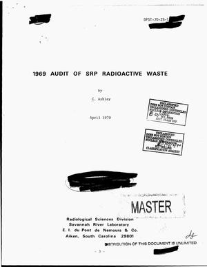 Primary view of object titled '1969 audit of SRP radioactive waste'.