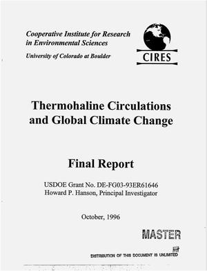 Primary view of object titled 'Thermohaline circulations and global climate change. Final report'.