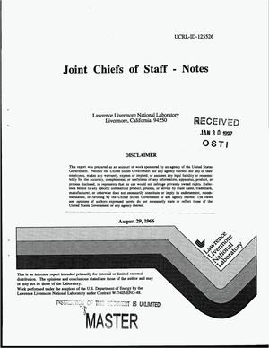 Primary view of object titled 'Joint Chiefs of Staff: Notes'.