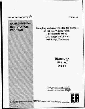 Primary view of object titled 'Sampling and analysis plan for phase II of the Bear Creek Valley treatability study Oak Ridge Y-12 Plant, Oak Ridge, Tennessee'.