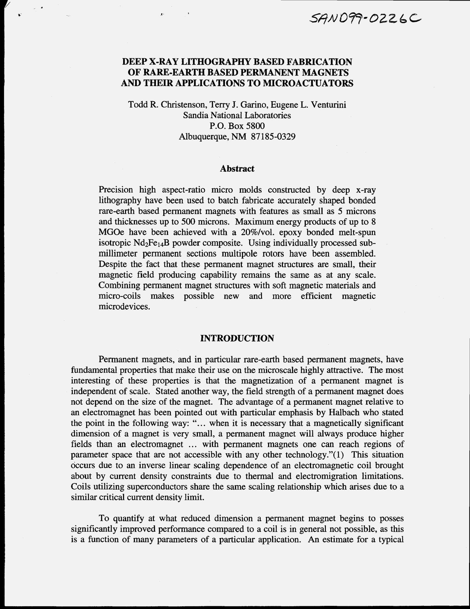 Deep X Ray Lithography Based Fabrication Of Rare Earth Permanent Magnets And Their Applications To Microactuators Digital Library