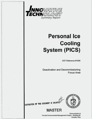 Primary view of object titled 'Personal Ice Cooling System (PICS). Innovative technology summary report'.