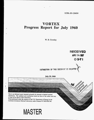 Primary view of object titled 'Vortex: progress report for July 1960'.