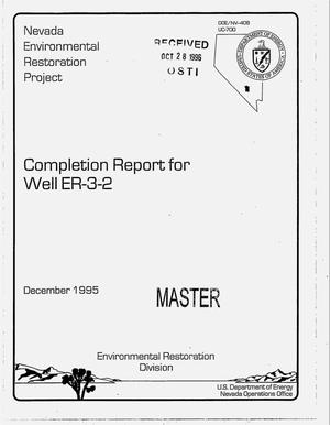 Primary view of object titled 'Completion report for well ER-3-2'.