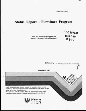 Primary view of object titled 'Status report on Plowshare Program, [December 1965]'.