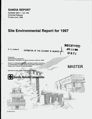 Primary view of object titled 'Sandia National Laboratories/California site environmental report for 1997'.