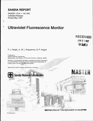 Primary view of object titled 'Ultraviolet fluorescence monitor'.